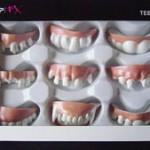 Gebiss Set falsche Zähne